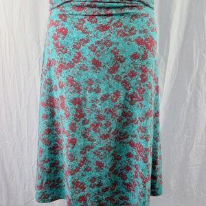 LuLaRoe Azure Skirt 2XL Turquoise Floral